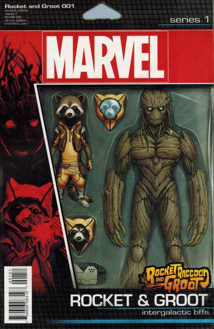 Rocket Raccoon and Groot #1 Christopher Action Figure Variant Marvel ANAD 2016