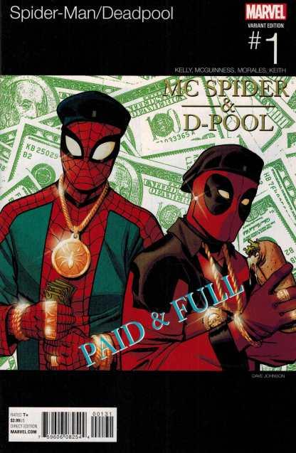 Spider-Man Deadpool #1 Dave Johnson Hip Hop Variant Marvel ANAD 2016