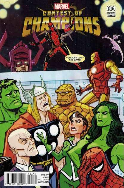 Contest of Champions #4 1:10 Rubio Deadpool Variant Marvel ANAD 2015