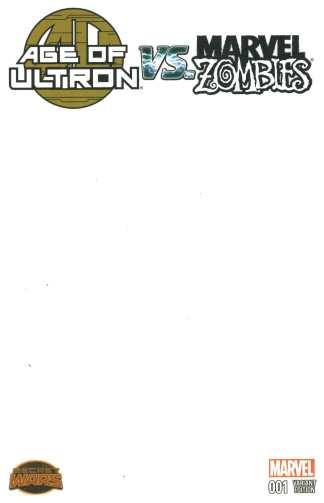 Age of Ultron vs Marvel Zombies #1 Blank Sketch Variant 2015 SWA Secret Wars