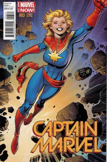 Captain Marvel #3 1:25 Art Adams Variant All New Marvel Now ANMN