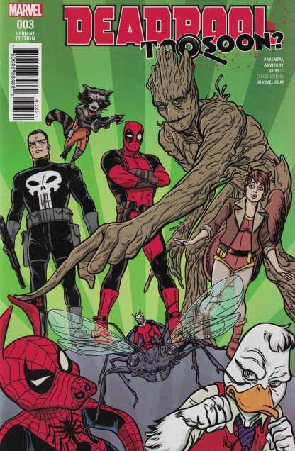 Deadpool Too Soon #3 1:25 Mike Allred Variant NOW Marvel 2016