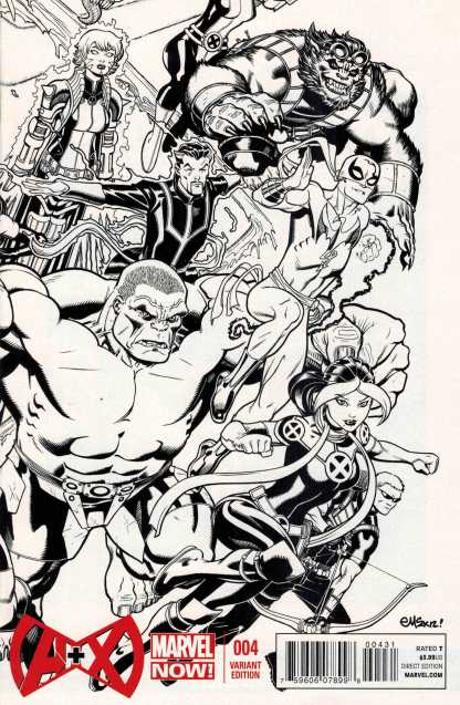 A+X #4 1:50 Ed McGuinness Connecting Sketch Variant A plus X