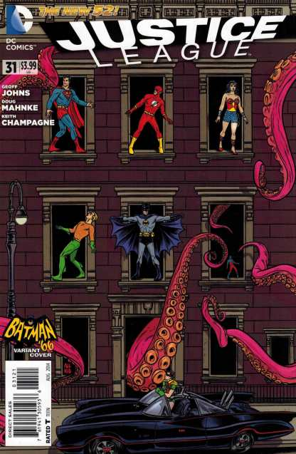 Justice League #31 1:25 Batman 66 Mike Allred Variant New 52