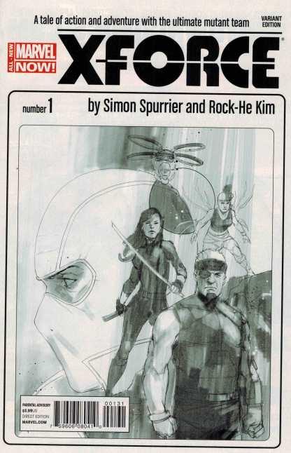 X-Force #1 1:100 Phil Noto Sketch Variant 2014 ANMN HTF