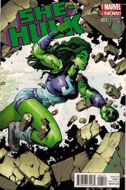 She-Hulk #1 1:50 Ryan Stegman Variant ANMN All New Marvel Now 2014