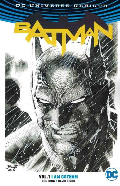 Batman TP 01 I Am Gotham Jim Lee Sketch Variant DC Rebirth One Per Store RARE