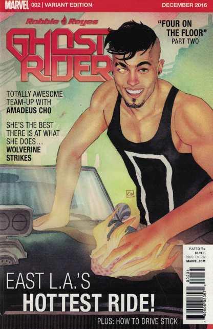 Ghost Rider #2 1:50 Kevin Wada Variant NOW Marvel 2016 Robbie Reyes