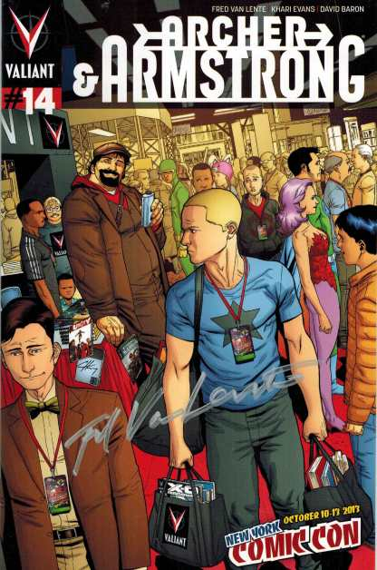 Archer and Armstrong #14 NYCC Exclusive Variant Valiant 2012 SIGNED by Van Lente