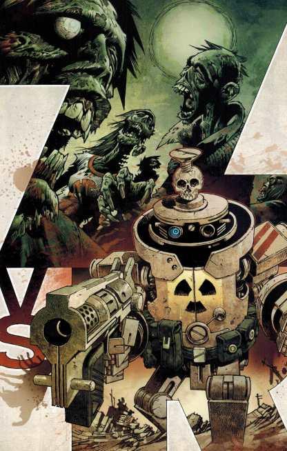 Zombies vs Robots #1 1:10 Gabriel Rodriguez Virgin Art Variant IDW