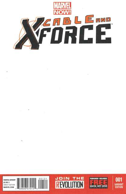 Cable and X-Force #1 Blank Sketch Variant Marvel Now All New All DIfferent X-Men
