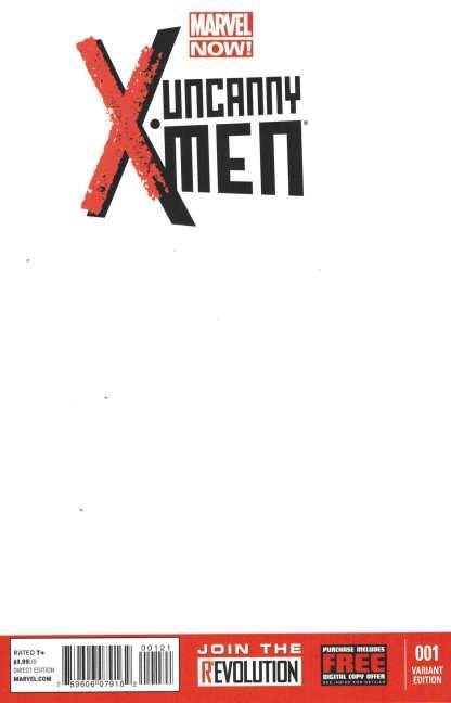 Uncanny X-Men #1 NOW Blank Sketch Variant New