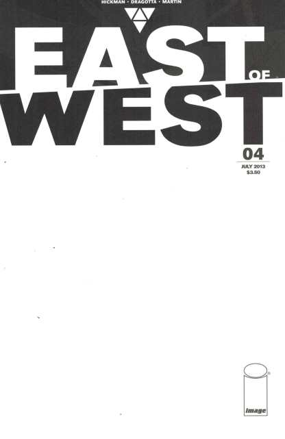 East of West #4 Blank Variant Hickman Image