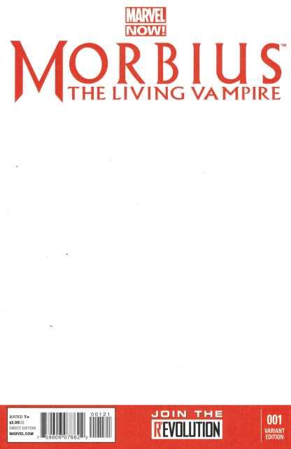 Morbius the Living Vampire #1 Blank Variant Marvel NOW