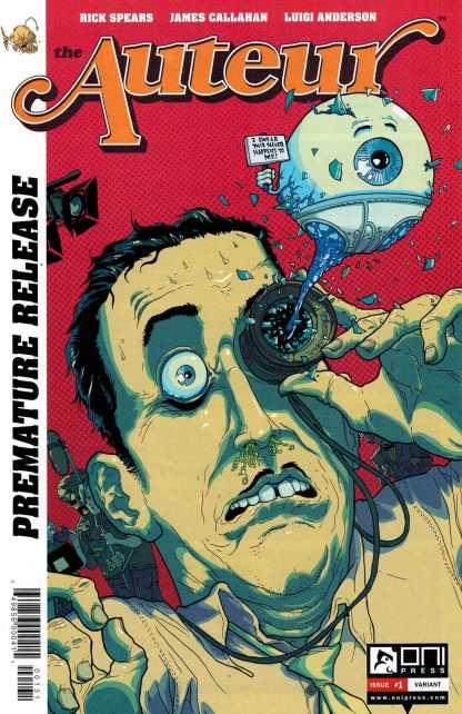 Auteur #1 James Callahan Premature Release Variant NYCC Exclusive Oni Press 2014