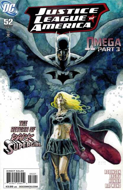Justice League of America #52 1:10 David Mack Dark Supergirl Variant DC Comics