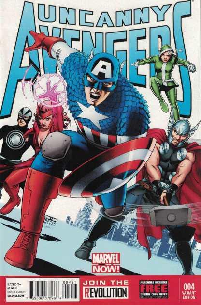 Uncanny Avengers #4 1:100 John Cassaday Variant Marvel NOW 2012 Captain America