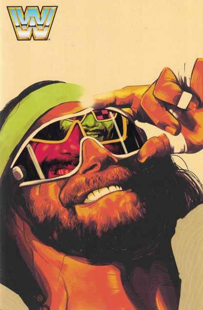 WWE #1 1:100 Barrett Macho Man Randy Savage Variant Boom Studios 2017 Comic