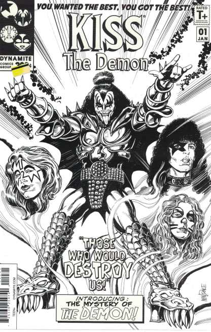 Kiss the Demon #1 1:15 Mandrake Sketch Variant Cover F 2017 Black Bolt Homage