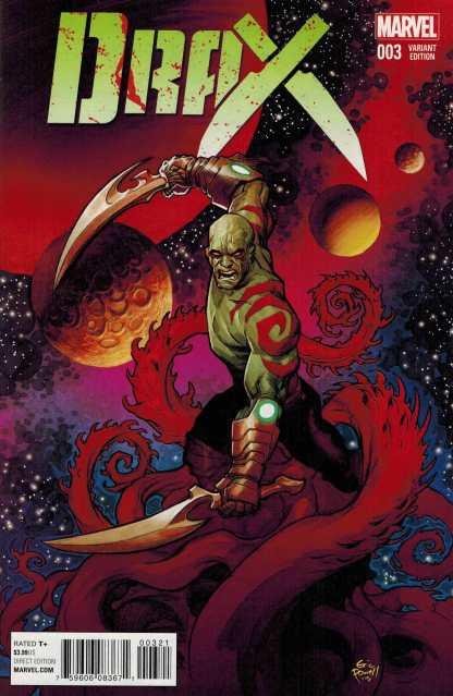 Drax #3 1:25 Eric Powell Variant Marvel ANAD 2015 Guardians