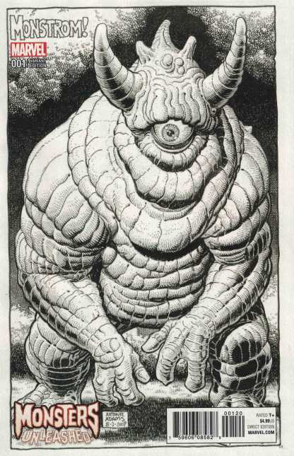 Monsters Unleashed #1 One Per Store Art Adams Retailer Bonus Variant Marvel 2017