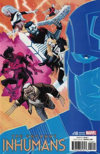 Uncanny Inhumans #18 1:25 Declan Shalvey Variant ANAD Marvel 2016 IVX X-Men