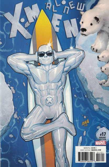 All New X-Men #17 1:25 Nakayama Iceman Variant Marvel ANAD 2015 IVX Inhumans