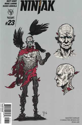 Ninjak #23 1:10 Ryan Lee Master Character Design Variant Cover D Valiant 2015