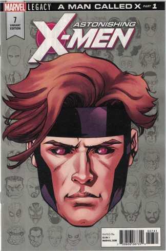 Astonishing X-Men #7 1:10 Mike McKone Headshot Variant Marvel Legacy 2017