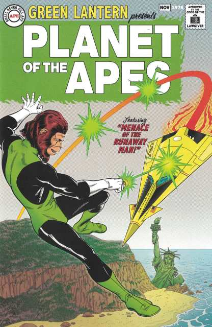 Planet of the Apes Green Lantern #1 1:25 Rivoche Classic Homage Variant DC 2017