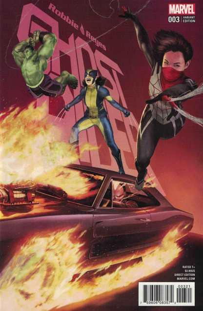 Ghost Rider #3 1:25 Rahzzah Variant NOW Marvel 2016 Robbie Reyes