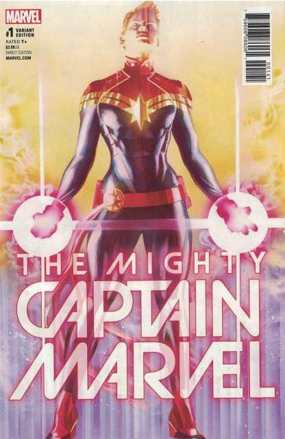 Mighty Captain Marvel #1 1:50 Alex Ross Color Variant NOW Marvel 2017 HTF Rare