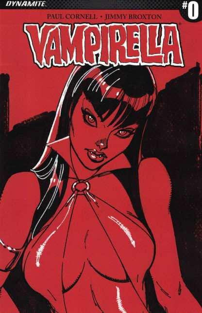 Vampirella #0 1:100 J Scott Campbell Sneak Peek Variant Dynamite 2017