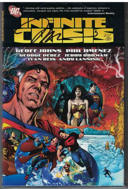 Infinite Crisis Hardcover Dynamic Forces Jim Lee Signed & Numbered 21/80 HC DC