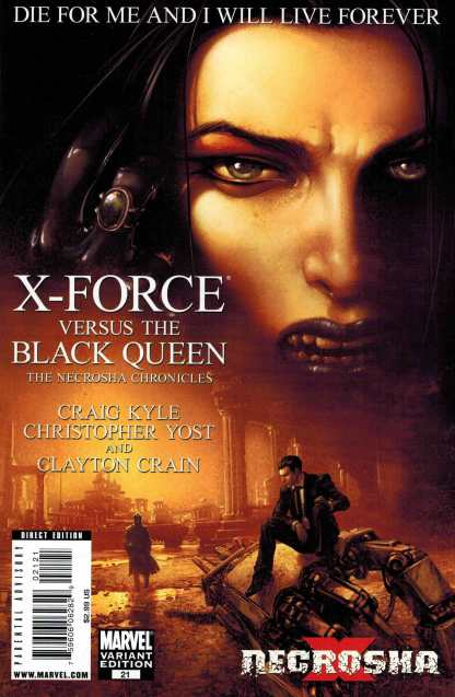 X-Force #21 1:10 Clayton Crain Necrosha X Variant Marvel 2008