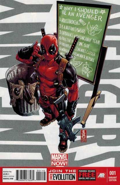 Uncanny Avengers #1 Deadpool Call Me Maybe Variant Marvel NOW 2012
