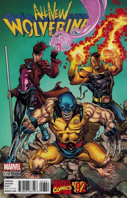All New Wolverine #3 1:20 Raney Marvel 92 Variant ANAD 2015