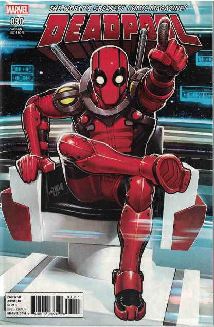 Deadpool #30 David Nakayama Stark Trek Homage Variant Marvel 2015