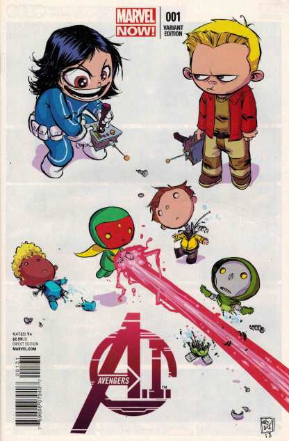 Avengers A.I. #1 Skottie Young Baby Variant AI