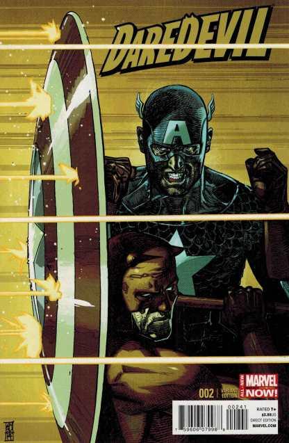 Daredevil #2 1:20 Maleev Captain America Variant ANMN 2014