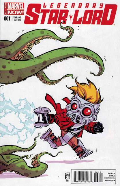 Legendary Star Lord #1 Skottie Young Baby Variant Guardians of the Galaxy