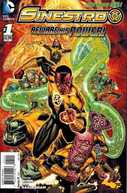 Sinestro #1 1:25 Manke Variant New 52 Green Lantern