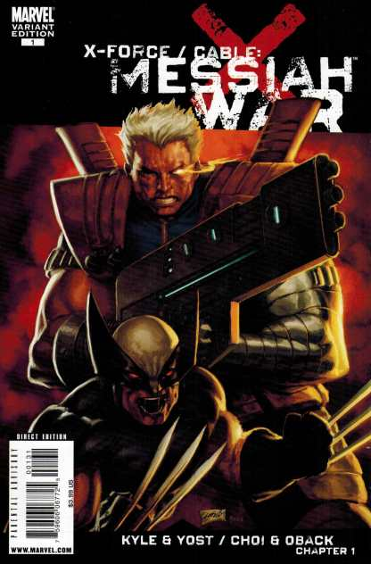X-Force Cable Messiah War #1 1:25 Rob Liefeld Variant Wolverine Marvel 2009
