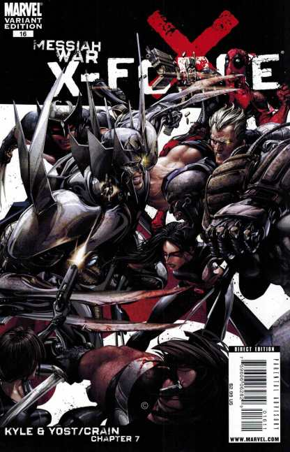 X-Force #16 Clayton Crain Variant Marvel 2008 Cable Messiah War