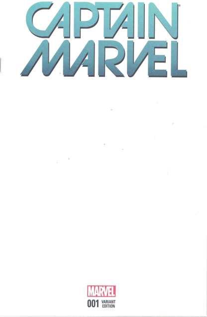 Captain Marvel #1 Blank Sketch Variant Marvel 2016 HTF Rare