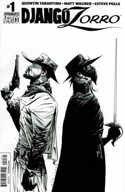 Django Zorro #1 1:50 Jae Lee Black and White Sketch Variant Dynamite