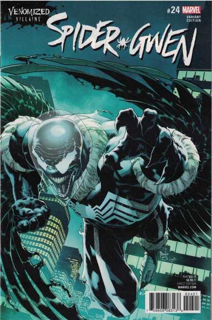 Spider-Gwen #24 Unlocked Paulo Siqueira Venomized Vulture Variant Marvel 2015