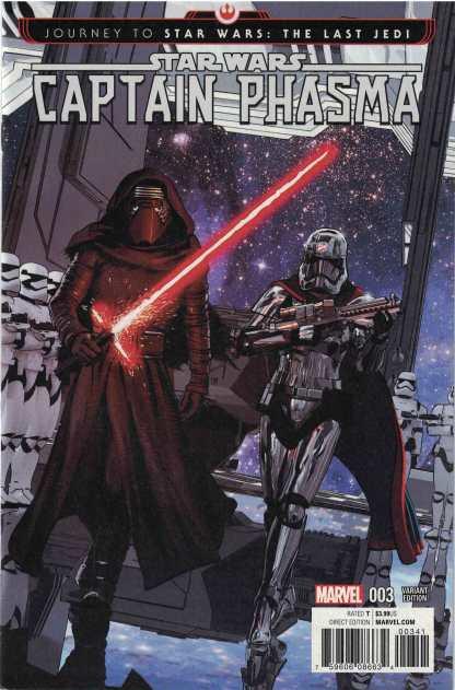 Journey Star Wars Last Jedi Captain Phasma #3 1:25 Mayhew Variant Marvel 2017
