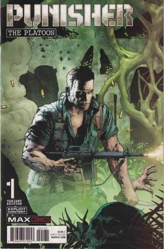 Punisher the Platoon #1 1:50 Andy Brase Variant Marvel 2017