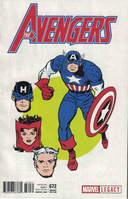 Avengers #672 1:50 Don Heck 1965 T-Shirt Variant Legacy 2017 Captain America